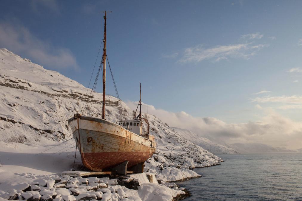 Hammerfest Fjord, Norway.