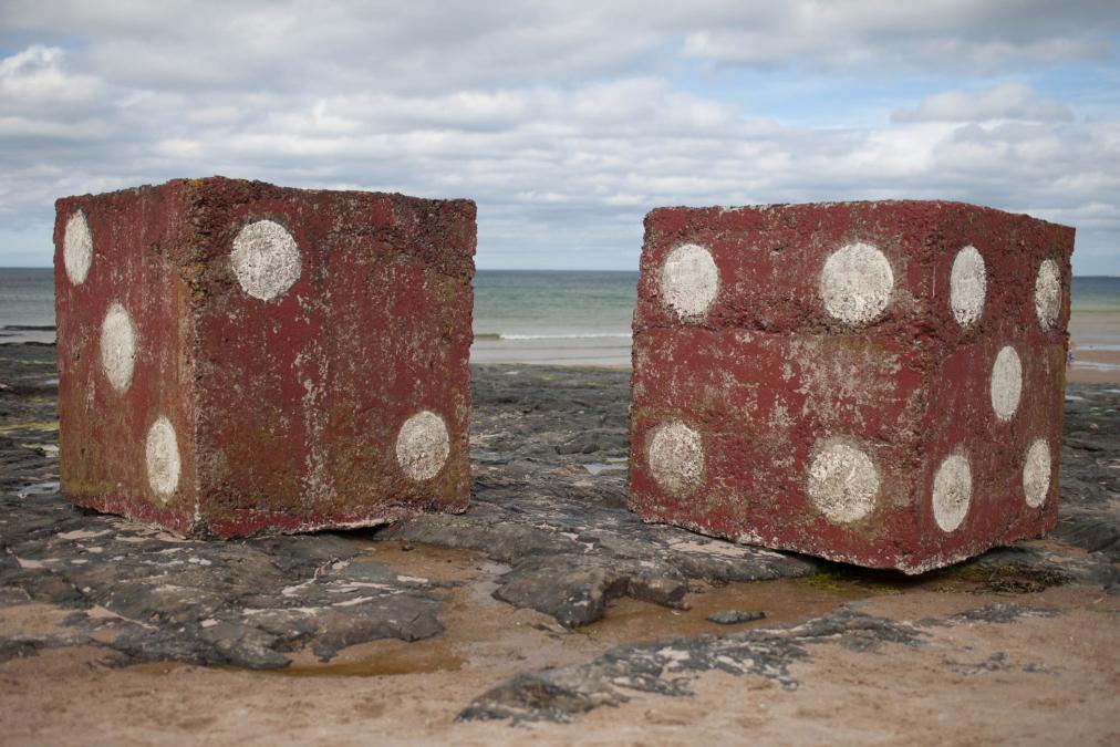 Concrete Dice, Alnwick, Northumberland.