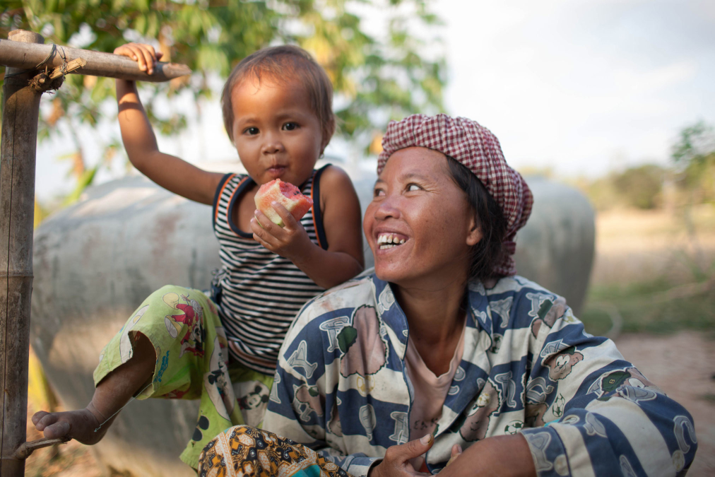 Mother and child, Cambodia.