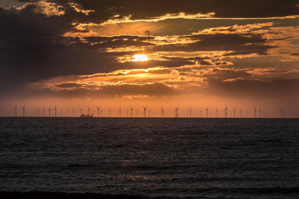 Gwynt y Mor Wind Farm, North Wales.