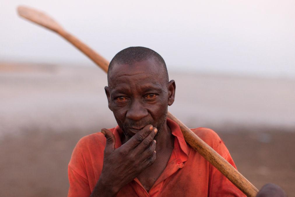 Fisherman, Lake Malawi, Malawi.